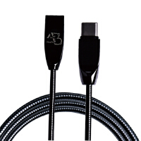 BaaN TYPE-C充电线华为P9/荣耀V8/乐视1/2小米4C/5/6金属弹簧数据线 典雅黑