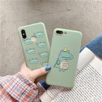 抹茶绿小恐龙vivoy51 y55手机壳y71情侣X12s可爱X6女X7plus软硅胶 X6-抹茶绿 多头恐龙