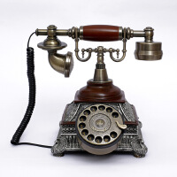 至臻仿古电话机 转盘 欧式复古家用办公电话座机 老式古董电话151