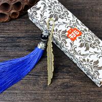 羽毛书签金属创意小清新学生用可爱古典中国风个性礼品文具批发
