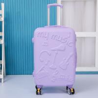 2018新款品牌韩版糖果色拉杆箱20寸卡通旅行箱万向轮24寸学生行李箱子潮流男女
