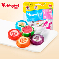 21日0点起领券满300-210 【来伊份亚米棒棒糖55g】韩国进口水果儿童可爱糖果零食来一份