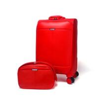 结婚箱皮箱陪嫁箱包红色拉杆箱女子母箱行李箱旅行箱