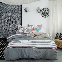 纯棉家纺四件套全棉小清新床单被罩床上三件套床上用品1.2/1.35/1.5/1.8/2.0