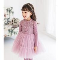 女童连衣裙秋冬儿童裙子蓬蓬纱洋气小女孩公主裙