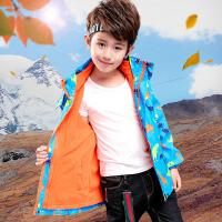 男童三合一可拆卸冲锋衣儿童户外保暖抓绒外套