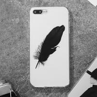 手机壳苹果6S全包透明套硅胶6超薄可挂绳日韩新款ip7手机套壳创意冷淡风iphone8保护壳潮牌情侣