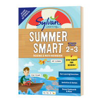 Sylvan Summer Smart Workbook 2 3 美国小学2 3年级暑假阅读数学技巧练习册 英文原版 英