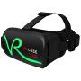 VR CASE VR虚拟现实3D眼镜触控式手机影院智能头戴式游戏头盔成人 绿色