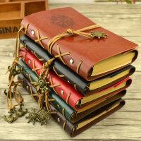 欧式复古空白手绘本牛皮纸本子绑带diy旅行日记本活页笔记本文具