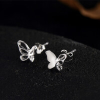 女士蝴蝶耳环甜美复古时尚简约可爱耳饰品