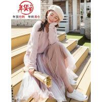 秋冬季冬裙法式�凸派倥�毛衣配裙子�杉�套�begg中�L款打底�B衣裙