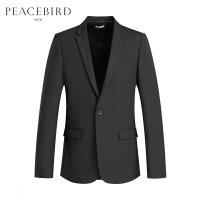 太平鸟男装 一粒扣翻驳领商务休闲西装男外套时尚潮流正装上衣