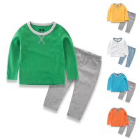 春秋打底衫儿童睡衣裤男童家居服纯棉宝宝套装中小童两件套