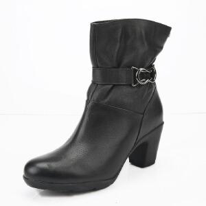 Clarks/其乐女鞋2017秋冬新款真皮时尚休闲短靴Lucette Tilly专柜正品直邮