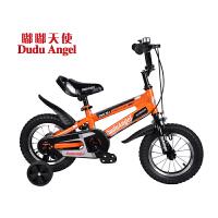 【当当自营】嘟嘟天使儿童自行车男女童车12寸/14寸/16寸男童单车3岁-6岁-9岁小孩自行车脚踏车开拓者 16寸橙高