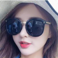 韩版女太阳镜 墨镜 户外新款眼睛女士太阳镜大脸圆脸网红款个性眼镜潮可调PC镜