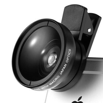Liweek 手机镜头 广角 微距 拍照相神器 iphone7苹果iPhone6套装镜头 7plus手机通用单反外置摄像头广角微距套装 49mm口径畸变小