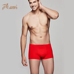顶瓜瓜内裤男棉质面料大红内裤本命年男士内裤平角裤单条装