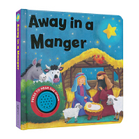 Away in A Manger 马槽圣婴 圣诞音乐书 儿歌童谣 英文绘本
