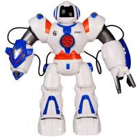 美致太空战警智能故事机器人 电动语音编程跳舞可发射软弹玩具