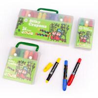 美乐 安全无毒可水洗水溶性蜡笔便携套装儿童蜡笔丝滑旋转画笔