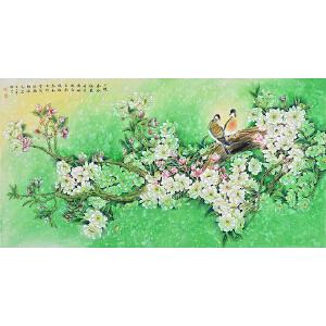 【有合影】当代工笔画家 孙老师《一陂春水绕花身》HN12808