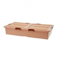 床下收纳箱加厚带滑轮床底收纳箱床底柜塑料床下储物箱大号衣服整理箱收纳盒