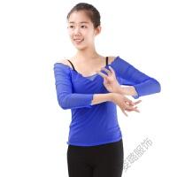 芭蕾舞蹈练功服上衣 长袖网纱春夏女健美体操舞蹈服装