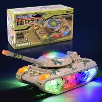 万向电动玩具车儿童电动发光玩具闪光电动坦克玩具儿童坦克车