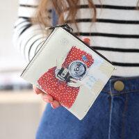 可爱女士钱包女短款日韩版小清新学生折叠多功能零钱包夹