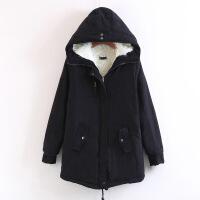 保暖棉衣冬装羊羔毛棉袄夹棉外套女加绒中长款大码加厚军大衣