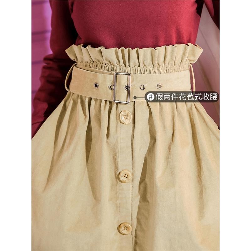七格格复古港味裙长裙秋女新款假两件潮套头长袖韩版连衣裙冬