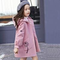 女童大衣儿童装中长款冬季羊毛呢外套