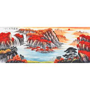 当代著名画家薛永178 X 69CM山水画gs01540