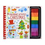 Usborne Fingerprint Activities Christmas 儿童手指画 圣诞礼物书 圣诞主题 手
