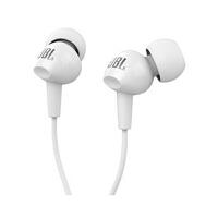 JBL C100SI 入耳式运动耳机 通话带麦线控音乐跑步耳机 立体声音乐耳机 白