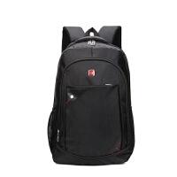2018新款男士背包韩版大高中学生书包女运动休闲旅行商务电脑包欢迎订购 黑色 15英寸