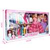 乐心多芭芘洋娃娃套装公主婚纱大礼盒梦幻衣橱换装女孩儿童玩具