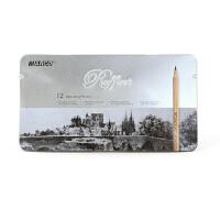 MARCO马可 专业美术原木素描铅笔 绘图绘画铅笔碳笔12支套 7001