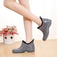 韩版果冻时尚雨鞋女士低帮短筒水靴单鞋水鞋胶鞋雨靴套鞋