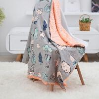 婴儿盖毯新生儿毛毯儿童婴幼宝宝豆豆毯