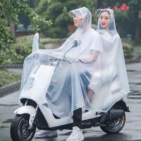 电动自行车雨衣摩托车双人骑行电瓶车雨披韩版时尚女母子雨衣