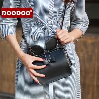 【支持礼品卡】DOODOO 小包包2017新款时尚女包韩版个性斜挎百搭女士单肩医生包潮 D6197