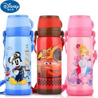 迪士尼不锈钢儿童保温杯 卡通双盖大容量水杯 户外运动水壶