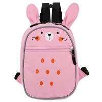 防走失背包女小书包幼儿小兔子熊猫双肩包宝宝-岁幼儿园婴儿男 粉色 小兔子