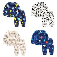 男宝宝珊瑚绒睡衣婴儿套装男童冬季童装冬装儿童家居服