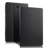 三星Galaxy Tab S4 SM-T830平板真皮保护套10.5英寸T835C电脑皮套 黑色【轻薄 头层牛皮】送钢