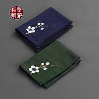 养壶茶巾棉麻长方形布艺中国风禅意茶道用品茶具配件茶台布垫吸水