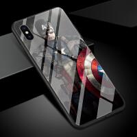 钢铁侠手机壳苹果xs max男女新款钢化玻璃个性创意漫威英雄电影美国队长欧美潮iphone x